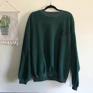 🌲Vintage Green Crewneck